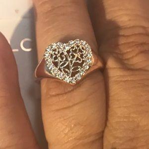 NWT Lauren Conrad Heart Shape Gold Rose Tone Ring